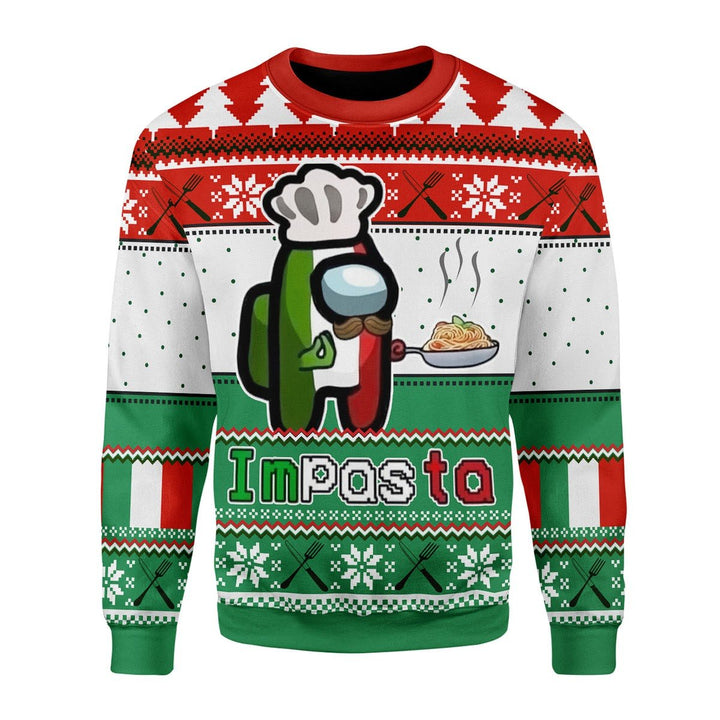 Impasta Christmas Ugly Sweater / S G746