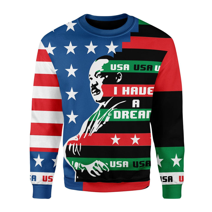 I Have A Dream Martin Luther King Jr Fleece Long Sleeve Kd817