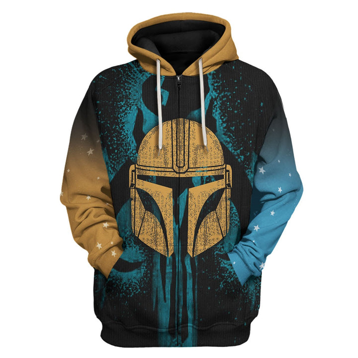 The Unclelorian All Over Print Fleece Zip Hoodie
