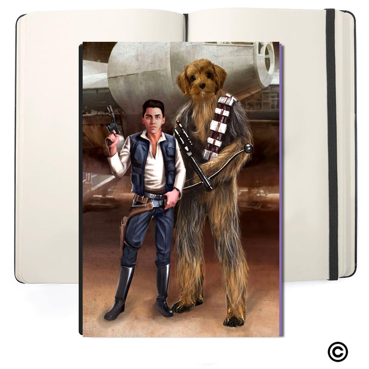 Personalized Photos Soft Cover Journals-ST-CS-MN003-Space Best Friends For Life