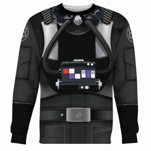 3D Tie Pilot All Over Print Qm216 Long Sleeves / S