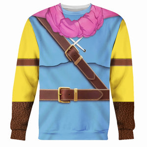 Dragon Quest Iii: Hero Oto Or Roto All Over Print Long Sleeves / S Ga2127