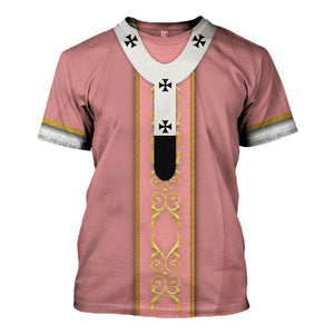 Pope Francis Rose Liturgical Vestment T-Shirt / S Vn340