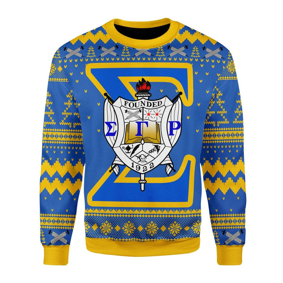 Sigma Gamma Rho Christmas Sweater Ugly / S G284