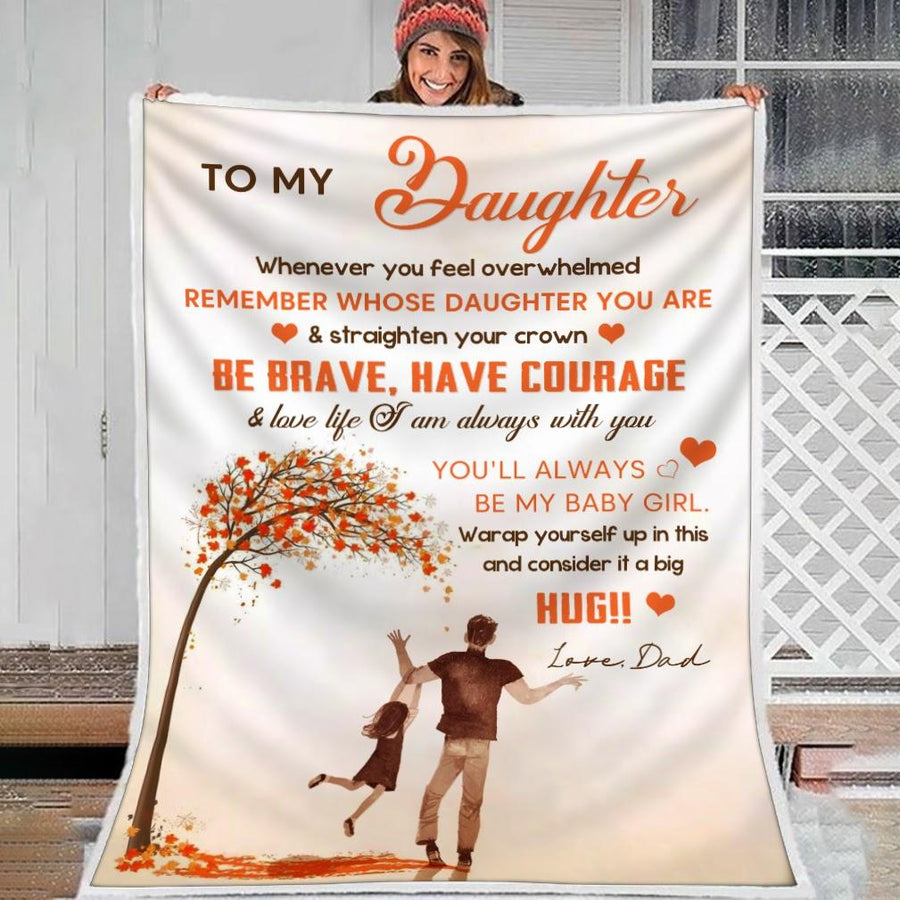 To My Daughter Blanket G21