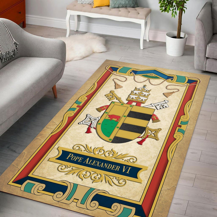 Pope Alexander Vi Rug / Small (3 X 5 Feet - 35 59 Inches) Qm1280