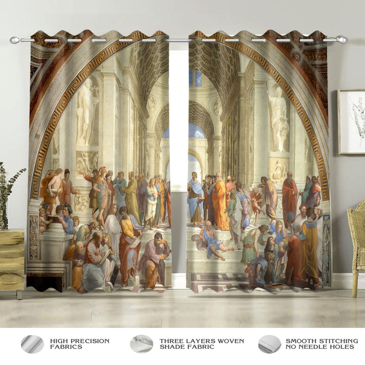 The School Of Athens Window Curtains / A (W42*l63) Th001