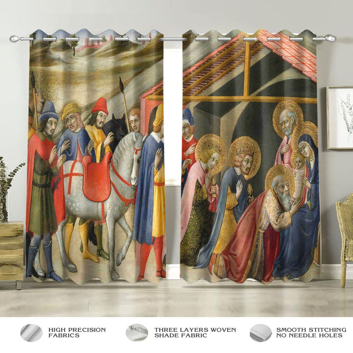 The Adoration Of The Magi Window Curtain Curtains / A (W42*l63) Th002