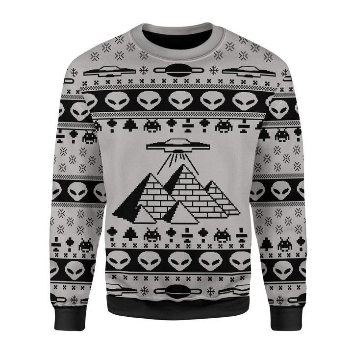 Ancient Alien Pyramid Ugly Sweater Christmas / S Qm1738