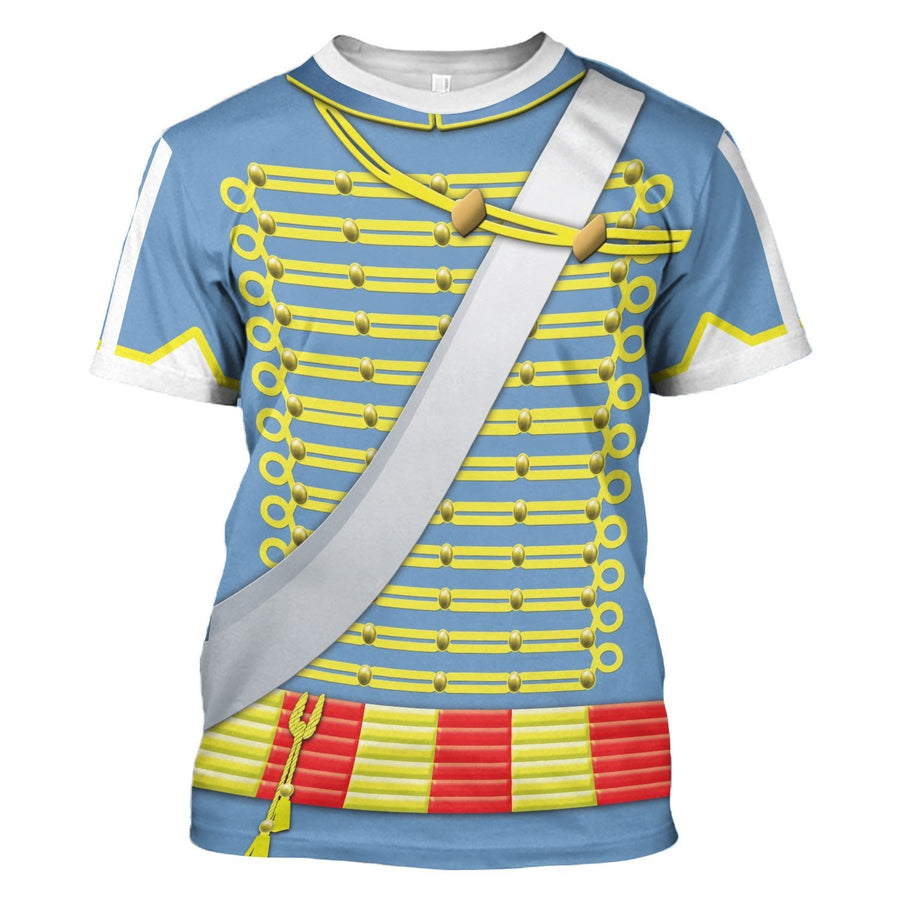 Napoleonic Uniforms Of The French Hussars T-Shirt / S Hi130220