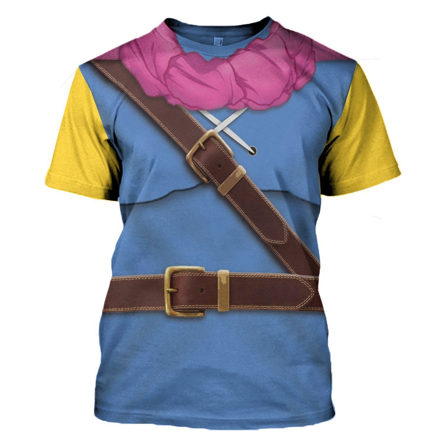 Dragon Quest Iii: Hero Oto Or Roto All Over Print T-Shirt / S Ga2127
