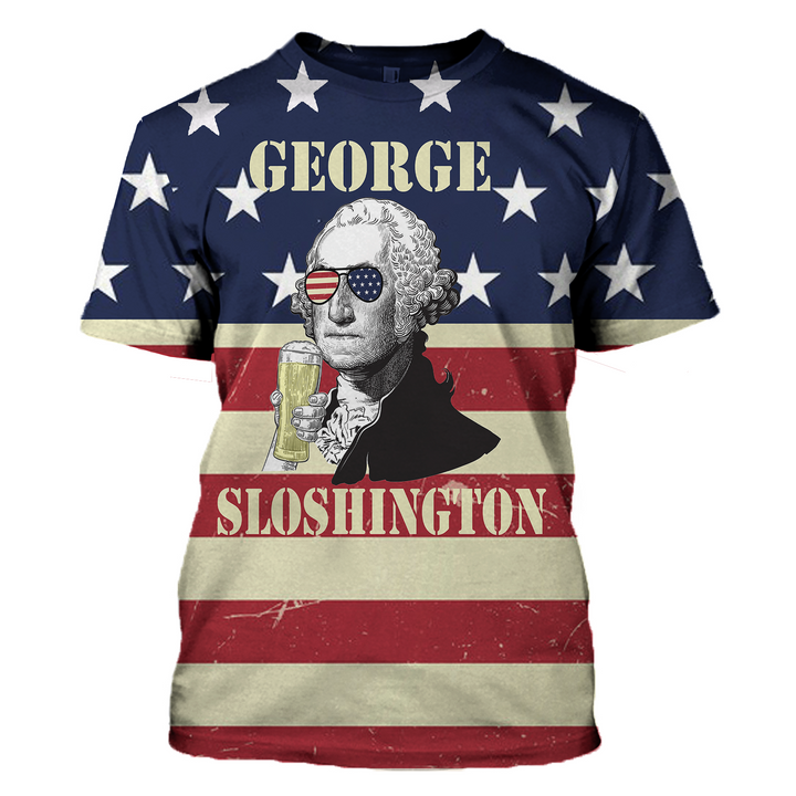 Gearhomies 3D Custom Shirt Hoodies George Sloshington Apparel