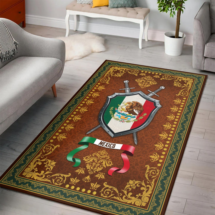 Mexico Coat Of Arms Rug / Small (3 X 5 Feet - 35 59 Inches) Qm1295
