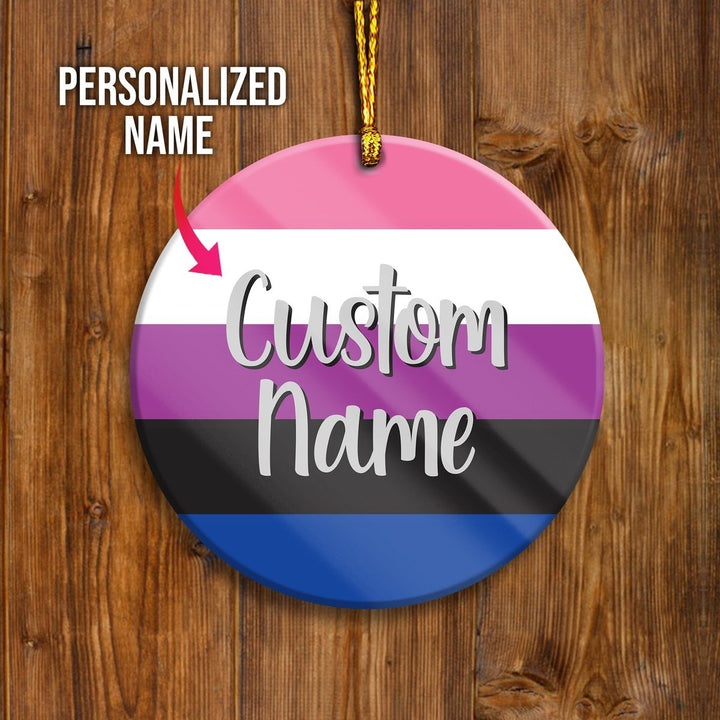 Genderfluid Customized Ornament Mica ( 9 X Cm - 3.5 Inches) / Pack 1 H007
