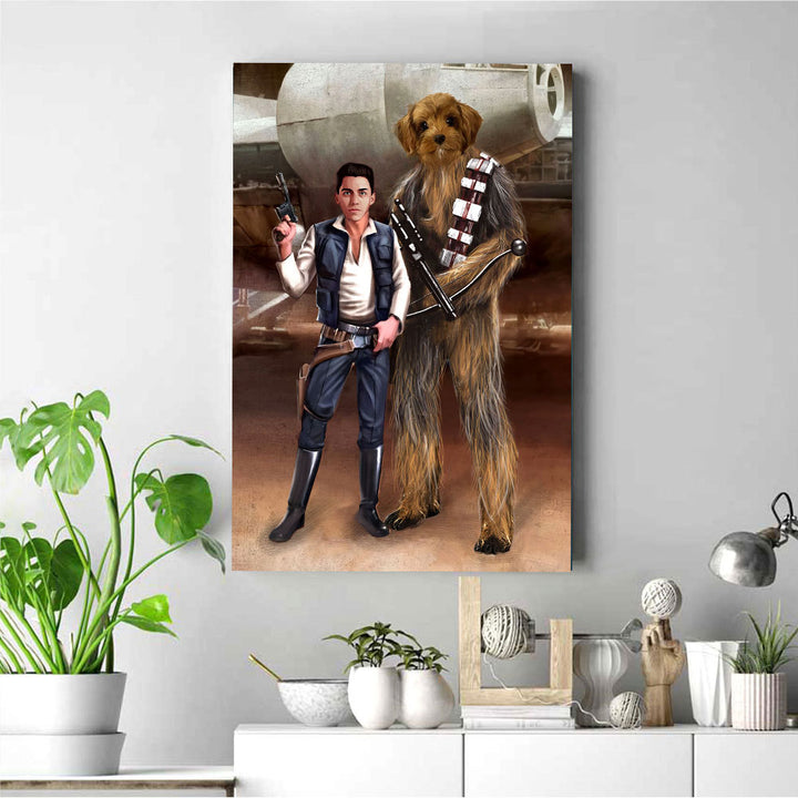 Customized Photos Canvas Chewbeca And Han Solo Space Best Friends For Life