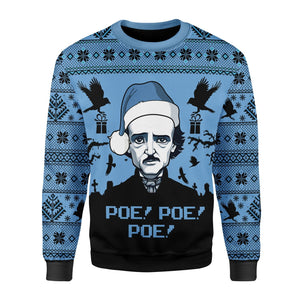 Edgar Allan Poe Christmas Ugly Sweater / S G158