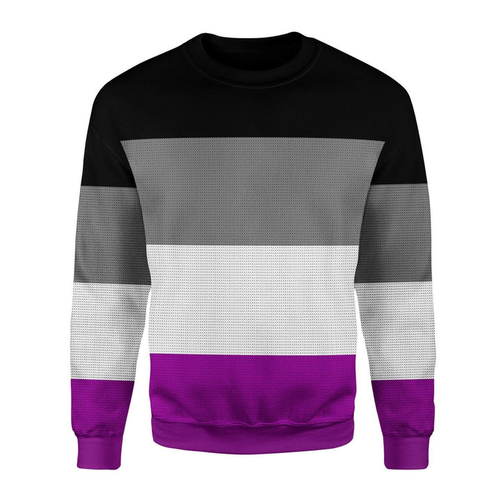 Asexual Pride Flag Ugly Sweater Christmas / S Kd733