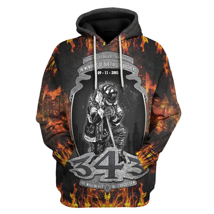 You Will Never Be Forgotten Hoodie / S Vn795