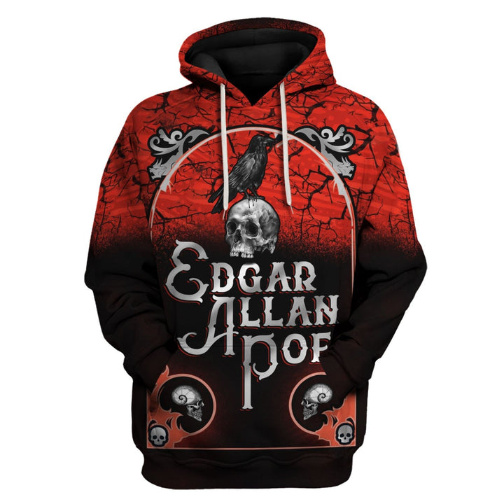 Edgar Allan Poe Quoth The Raven Nevermore Hoodie / S Hp520