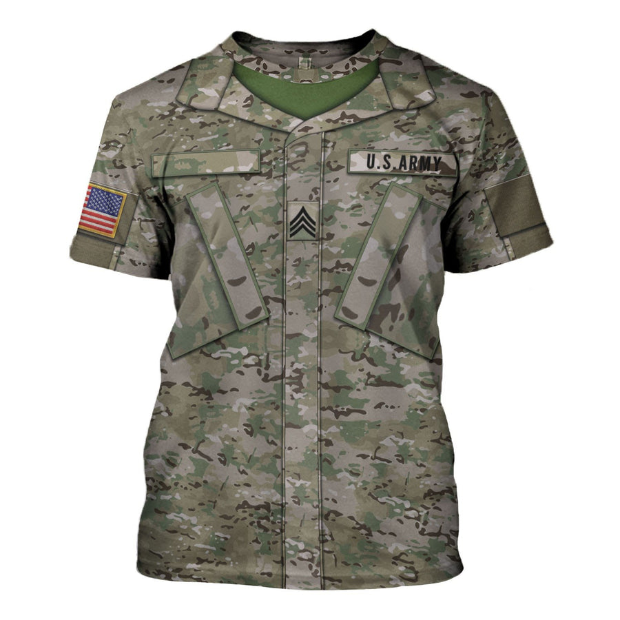 Us Army Combat Uniform Sergeant T-Shirt / S Vn458