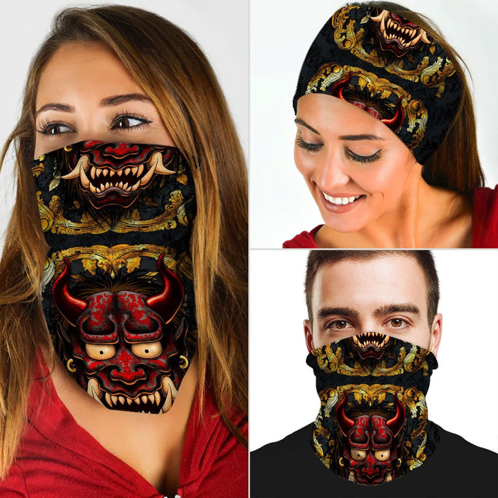 Gold Oni Neck Gaiter Qm891