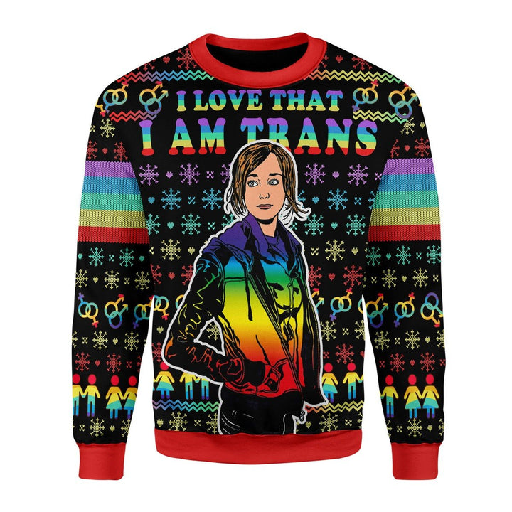 I Love That Am Trans Christmas Ugly Sweater / S G741