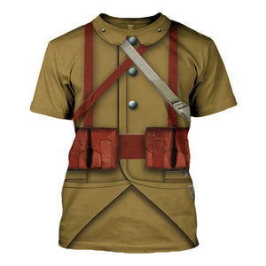 Ww2 French Empire Soldiers T-Shirt / S Vn200