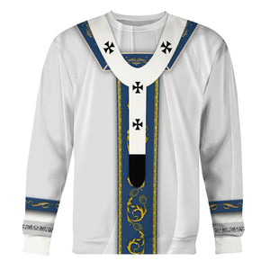 White Liturgical Vestments Long Sleeves / S Vn344