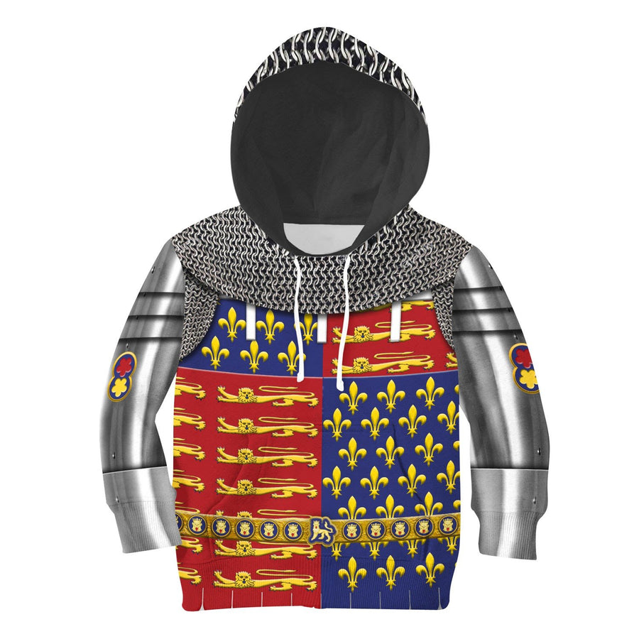 Edward The Black Prince Armor Kid Hoodie / Toddler 2T Khp296