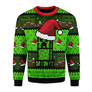 Minecraft Ugly Christmas Sweater / S Qm1727