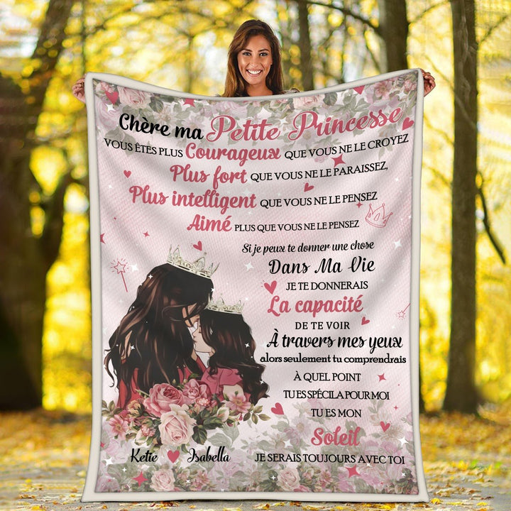 Dear My Little Princess Customized Blanket French Kd120