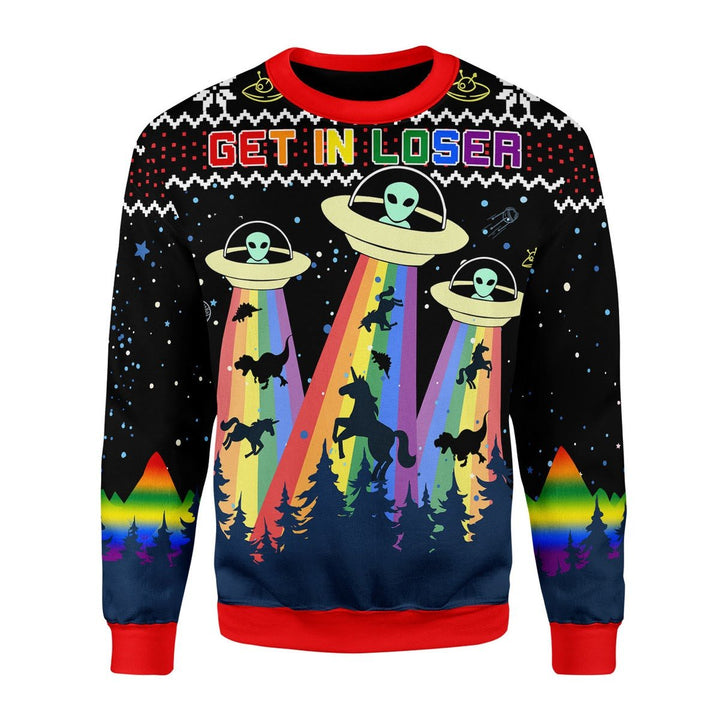 Lgbt Alien Christmas Ugly Sweater / S G800