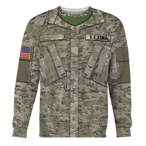 Us Army Combat Uniform Private Long Sleeves / S Vn455