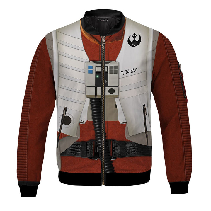 3D Poe Dameron All Over Print Bomber Jacket