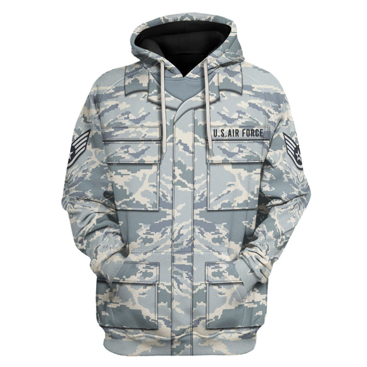 Us Airforce Airman Battle Uniform Hoodie / S Vn326