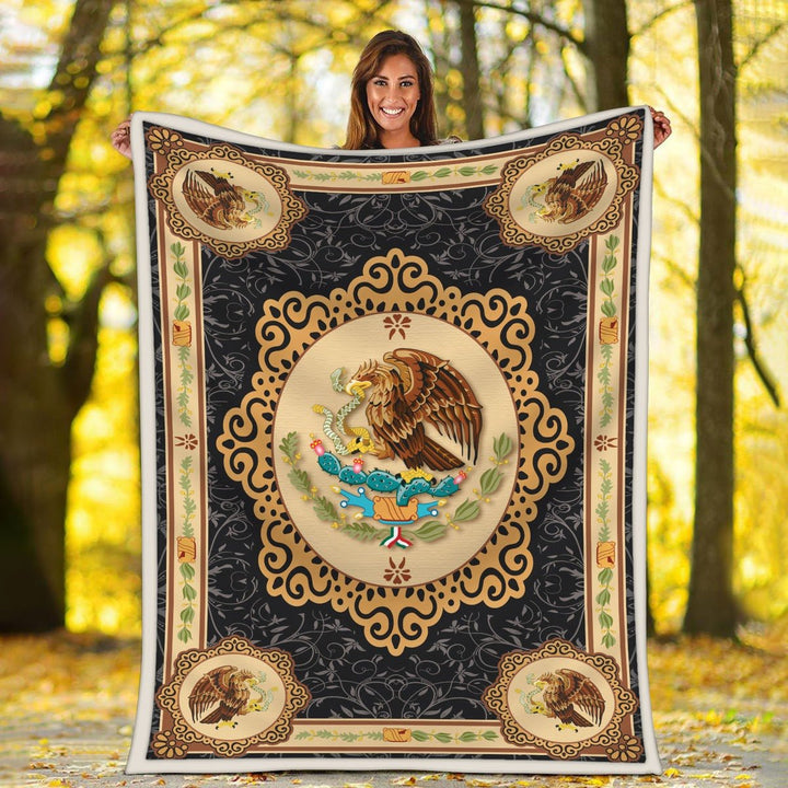 Mexico Coat Of Arms Blanket Qm1451
