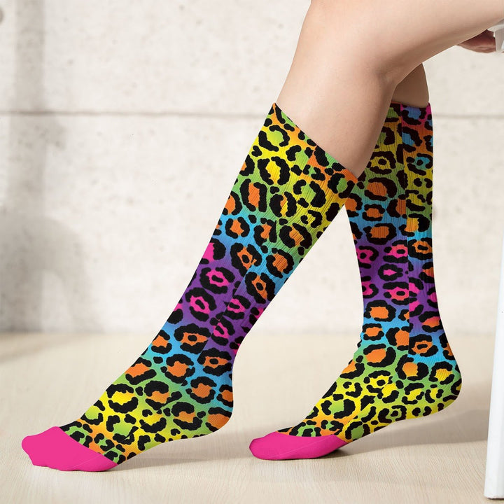 Rainbow Leopard Socks (18X3.5 Icnhes) / Pack 1 G765