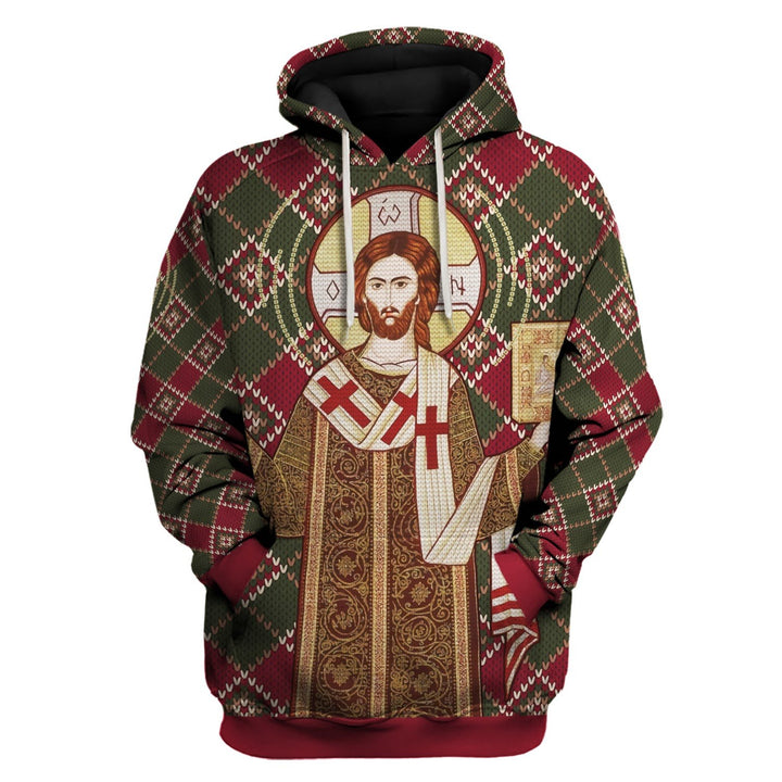 Orthodox Christianity Christmas Ugly Sweater Hoodie / S Qm1535