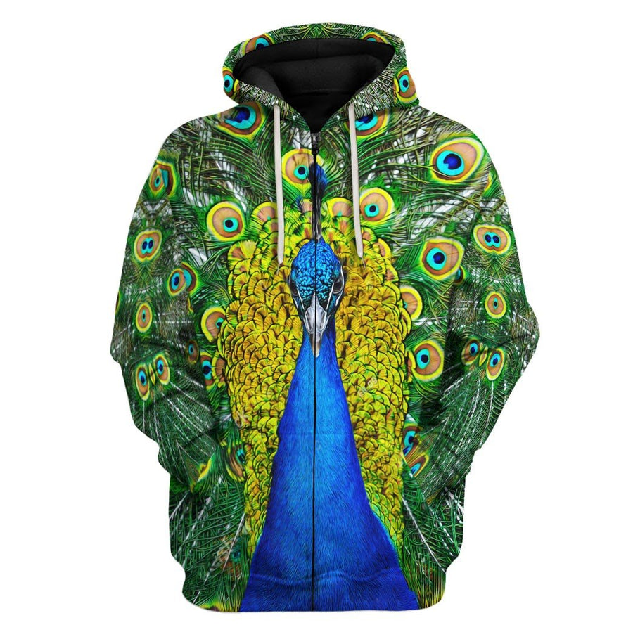 Peacock Fleece Zip Hoodie / S Pc01