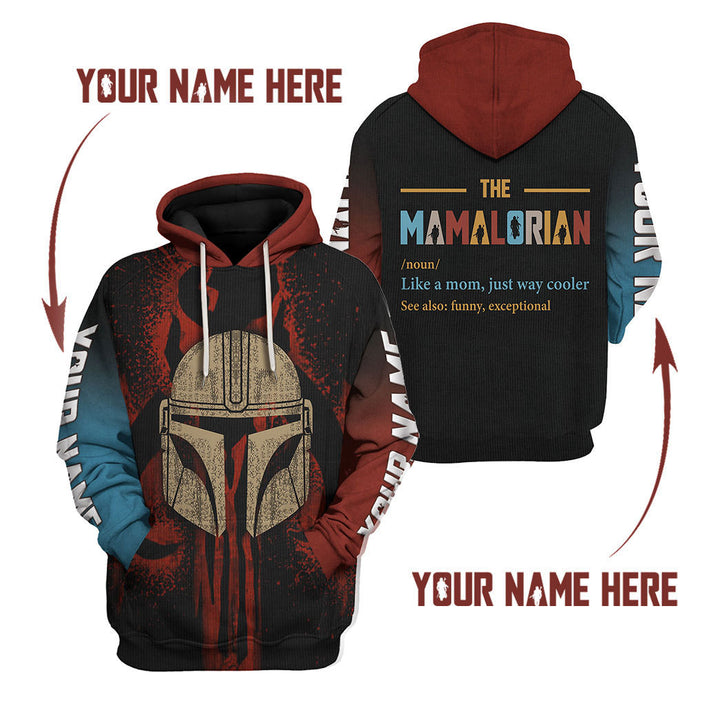 Mamalorian Like A Mom Just Way Cooler- Custom Name