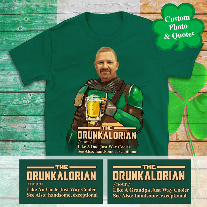 2d Personalized Photo Drunkalorian Just Like A Dad Just Way Cooler Hoodie Saint Patrick