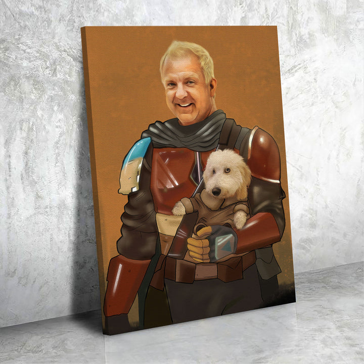 Customized Photos Canvas Mandalorian And Baby