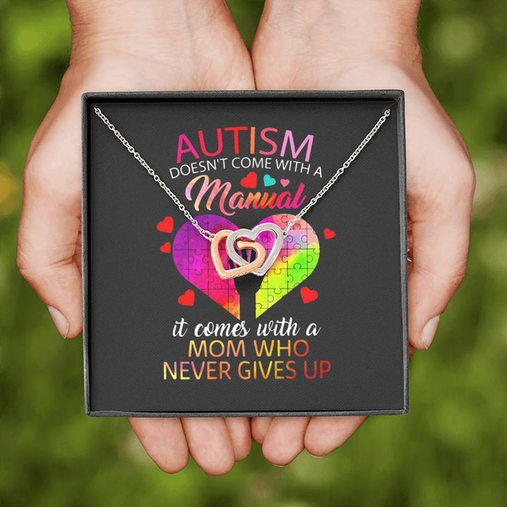Mom Who Never Gives Up On Autism Necklace Jewelry