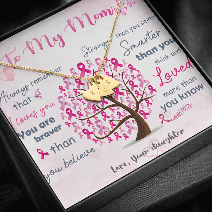 Breast Cancer Awareness To My Mom Necklace Jewelry