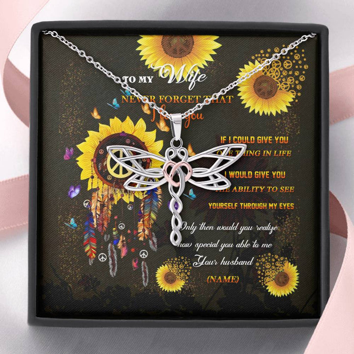 Hippie Soul Dragonfly Custom Necklace