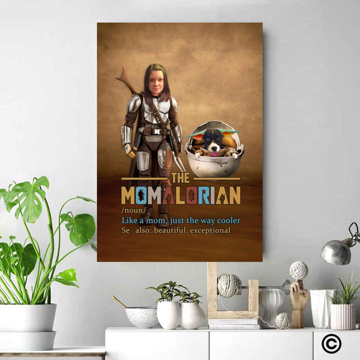 Personalized Photos Canvas Poster Momalorian Wall Art Star Wars