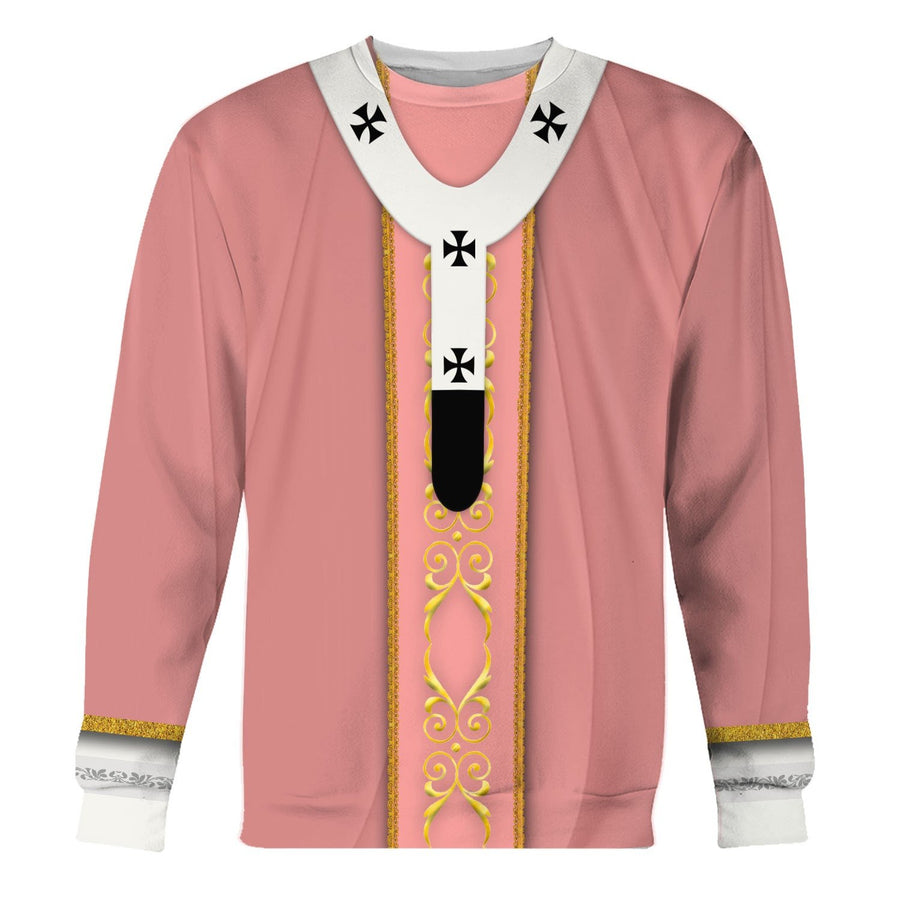Pope Francis Rose Liturgical Vestment Long Sleeves / S Vn340