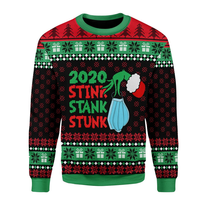 Stink Stank Stunk 2020 Ugly Christmas Sweater / S Qr1691