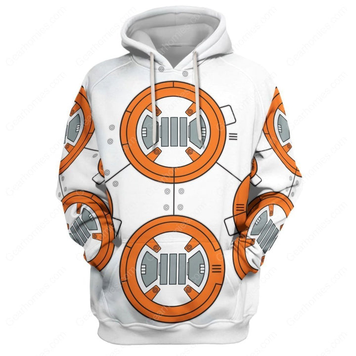3D Bb 8 All Over Print Qm152 Hoodie / S