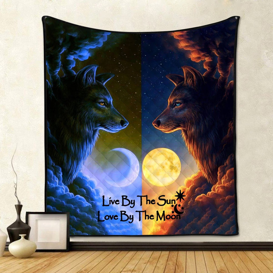 Live By The Sun Love Moon Quilt Quilt / S (37.8 X 44.9 Inches/ 3.1 3.7 Feet) G24